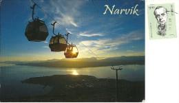 NORGE  NORWAY  NORVEGIA  Narvik  Cableway  Nice Stamp - Norvegia