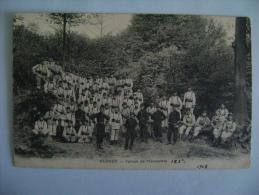 CP ECOUEN  TERRAIN DE MANOEUVRES - ECRITE EN 1910 - Ecouen