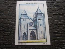 Cromo Image De Collection  Le Papillon Bleu Vintage >> Saint Brieuc Cathédrale Saint Etienne Image Poinçonnée - Otros