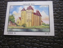 Cromo Image De Collection  Le Papillon Bleu Vintage >> L'Abbaye De Solesmes - Otros