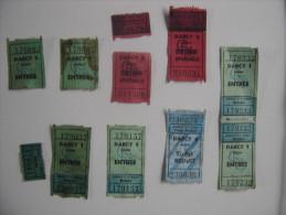 Lot De Tickets De Cinema NEUF Annees 70 DIJON Darcy TICKET - Film/ Televisie