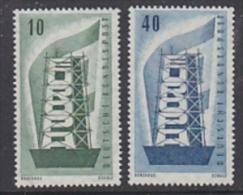 Europa Cept 1956 Germany 2v Original Gum ** Mnh (LT502) - Europa-CEPT