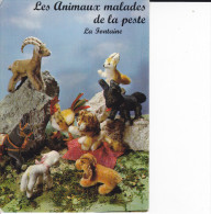 CPSM LES ANIMAUX MALADES DE LA PESTE FABLE DE LA FONTAINE STUDIO PIETTRE PELUCHES - Fiabe, Racconti Popolari & Leggende