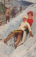 CPA ILLUSTRATEUR FRITZ RAPHAEL TUCK SERIE RODELSPORT 821  WINTER SPORT SPORT D'HIVER - Sports D'hiver