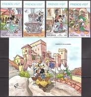 Walt Disney  MiNr. 1703 - 1707 (Block 226) Malediven  MNH / ** / POSTFRISCH - Disney