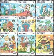 Walt Disney  MiNr. 829 - 837 Belize  MNH / ** / POSTFRISCH - Disney