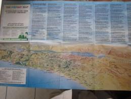 198I0 Sraël-guide Dépliant Detouristique Lieux Saint à Jérusalem Carte Géographique,Tel-Aviv Haifa Musée Théâtre. Etc. - World