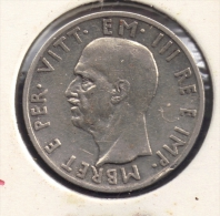 ALBANIA 5 LEK 1939 WWII Victor-Emmanuel III  ARGENT SILVER - Albania