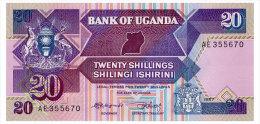 UGANDA 20 SHILLINGS 1987 Pick 29a Unc - Uganda