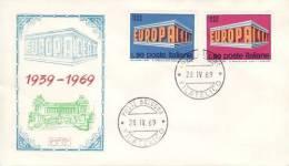 ITALY 1969  EUROPA CEPT FDC /BOLOGNA/  /ZX/ - 1969
