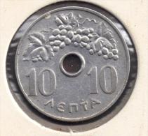 GRECE GREECE 10 LEPTA 1966 - Grèce