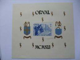 BELGIUM 1942 ORVAL MINISHEET MNH - Belgium
