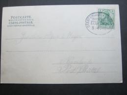 1904 , GEESTEMÜNDE - CUXHAVEN , Klarer Bahnpost Stempel Auf Karte - Brieven En Documenten