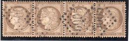 """FRANCE :  GC 5005 . """"  ALGER """".  N° 56 . BANDE DE 4 . TB . - Marcophily (detached Stamps)"""