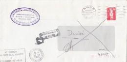 291FM- MARIANNE STAMPS, SORBONNE UNIVERSITY ROUND STAMP ON COVER, 1993, FRANCE - France