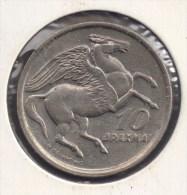 GRECE GREECE 10 DRACHMAI 1973  PEGASE - Grecia