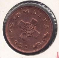 MALTA 1 CENT 1982 - Malte (Ordre De)