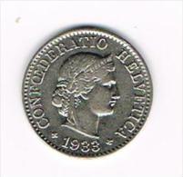 ¨ ZWITSERLAND  5 RAPPEN  1933 - Suiza