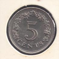 MALTA 5 CENTS 1972 - Malte (Ordre De)