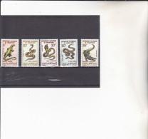 MAURITANIE  : Reptiles Et Sauriens :   Y&T :* * : 263 à 267 - Mauritanië (1960-...)