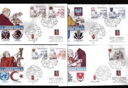 Vaticano °X- 1980 - FDC. Filagrano - Posta Aerea, I Viaggi Di Giovanni Paolo II Nel 1979 . - FDC