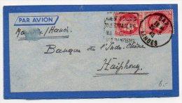 Cérès 2f X2 Sur Lettre Par Avion De 1940 Pour L'Indochine - Marcophilie (Lettres)