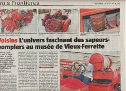 Page Alsace Theme Pompier - Livres, BD, Revues