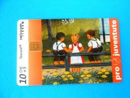 PRO JUVENTUTE - Childrens Paintings Peinture ( Switzerland Taxcard Card ) Carte Suisse Schweiz Svizzera Swiss - Switzerland