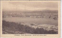 7388) SPEZIA PORTO MERCANTILE LAVORI PEL NUOVO MOLO. - La Spezia