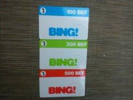Set Prepaidcards Belgium With Promocard 100 bEF -200BEF-500BEF Used Rare
