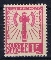 France Timbre De Service , 1943 Yv. Nr 6  MNH/** - Dienstpost