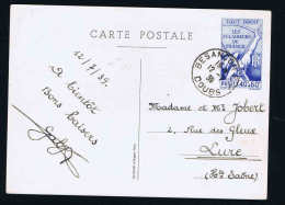 Francen°  Nr 15 éclaireurs De FRANCE Cad NANTES LOIRE INFre 9 II 1940 Michel Nr P74 - Postwaardestukken