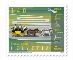 Switzerland 2014 Lindau Messenger Horse Coach  MNH ** - Neufs