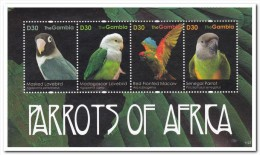 Gambia 2011, Postfris MNH, Parrots - Gambia (1965-...)