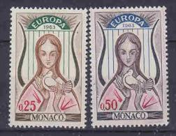 Europa Cept 1963 Monaco 2v ** Mnh (LT565) - Europa-CEPT