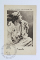 Old Trading Card/ Chromo Topic/ Theme Cinema/ Movie - Spanish Chocolate Advertising - Actress: Fernandra - Chocolat