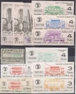 10530. Gran Lote 20 Billetes TRANVIA Barcelona, Centenario, Primer Y Ultimo Dia - Tranvías