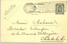 080302 ARMS 35c [1935 ] - POSTAL CARD BRUXELLES QL//BRUSSEL LW>CHATELET - Postcards [1909-34]