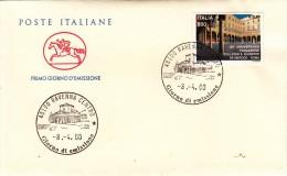 Busta Primo Giorno, Anniversario Fondazione Collegio S. Giuseppe De Merode. 08-04-2000 - Italia