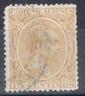 Sello 15 Cts Alfonso XIII Pelon, ERROR De Color , Num 219ec º - Usados