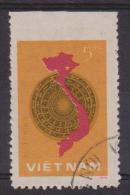 VIETNAM  1977  ERREUR  NON DENT EN HAUT   LA CARTE    YVERT N°55  Oblitéré  Réf  7852 - Viêt-Nam