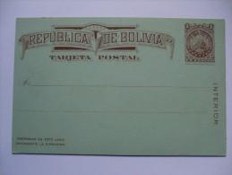 BOLIVIA 1868 POSTAL STATIONARY UNUSED - Bolivia