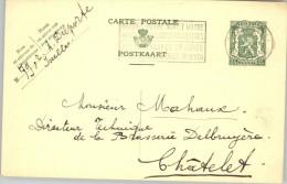 080305 ARMS 35c [1935 ] - POSTAL CARD BRUXELLES(QL)//BRUSSEL (LW)>CHATELET - Postcards [1909-34]