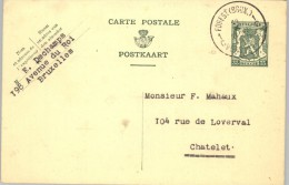 080307 ARMS 35c [1935 ] - POSTAL CARD -1CFOREST(BRUX.)1C// VOREST(BRUS.)>CHATELE T - Postcards [1909-34]