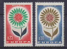 Europa Cept 1964  Monaco 2v ** Mnh (LT587) - Europa-CEPT