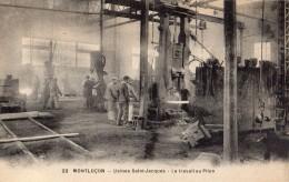 MONTLUCON USINES SAINT-JACQUES LE TRAVAIL AU PILON ANIMEE - Montlucon