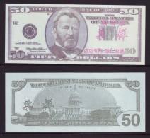 (Replica)China BOC (bank of china) training/test banknote,United States B-1 Series USA $50 dollars specimen overprint
