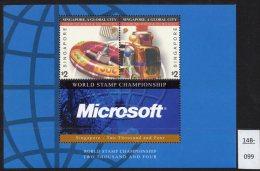 **Singapore 2002-04 Miniature Sheet Communiations Technology Computers Microsoft U/m (MNH) - Computers