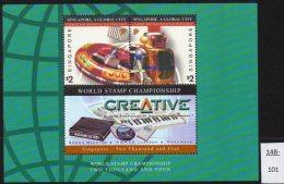 **Singapore 2002-04 Miniature Sheet Digital Sound Jukebox  U/m (MNH) - Music