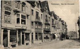 Duinbergen 3 CPA Rue Des Allemands Delhaize Bazar Denye '14   Hôtel Station Du Vicinal    Station - Belgium